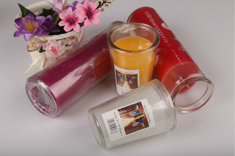 Color Glass candle