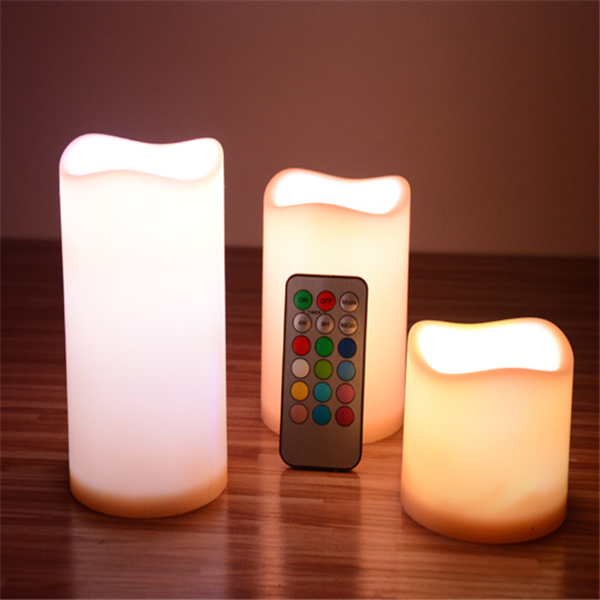 Wax Led Pillar Candle