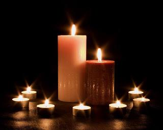 pillar and tea-light candles